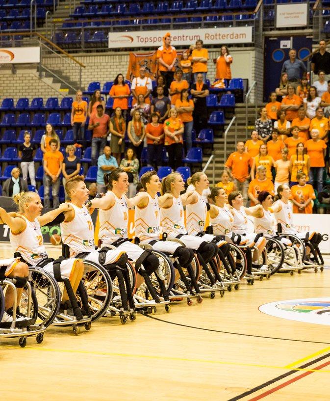 2019_Rolstoel_Orange Lions_vrouwen_EK_Team